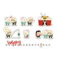 Characters elderly grandparents Doodle cute people vector image