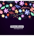 Colorful flowers background vector image vector image