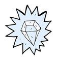 comic cartoon huge diamond vector image vector image
