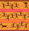 Comic seamless pattern of hunting aborigines vector image