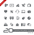 Communications icons basics vector | Price: 1 Credit (USD $1)