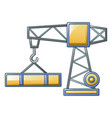 construction crane icon cartoon style vector image
