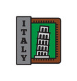 country badge collections pisa symbol of big vector image vector image