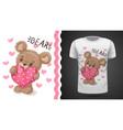 cute pear - idea for print t-shirt vector image vector image