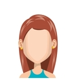 cute woman avatar casual vector image