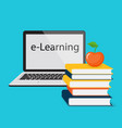 e-learning with laptop vector image vector image