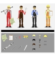 engineers vector image vector image