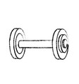 figure dumbbell fitness tool to do exercise and vector image