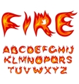 Flame alphabet vector image