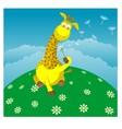 Giraffe with a dandelion vector image vector image