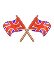Great Britain flag icon cartoon style vector image vector image