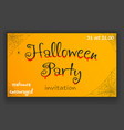 happy halloween party decoration hanging corner vector image