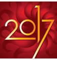 Happy new year 2017 card for your design vector image