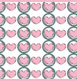 heart emblem to love and romantic symbol vector image vector image