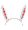 isolated headband with rabbit ears vector image