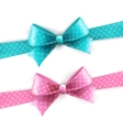 isolated polka dots bow for greeting card vector image vector image