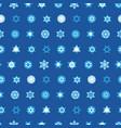 jewish stars set seamless pattern vector image