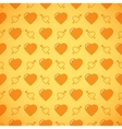 Lovely heart romantic pattern vector image vector image