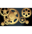 machine gears vector image