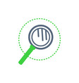 magnifying glass with handle examination vector image vector image