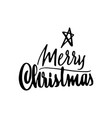 merry christmas lettering template monochrome vector image vector image