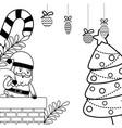merry christmas santa claus design vector image vector image