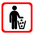 no littering sign in vector image vector image