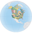 north america map with usa and canada vector image vector image