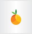 orange citrus fruit geometric icon vector image vector image
