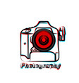 outline art camera vector image vector image