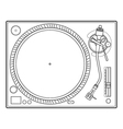 outline vinyl turntable vector image vector image