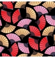 Pattern of fans vector image vector image