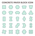 Paver block icon blue vector image