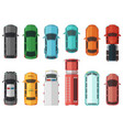 pictures of transportation top view cars isolated vector image vector image