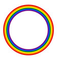 rainbow pride flag lgbt movement in circle shape