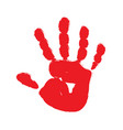 red hand print vector image vector image