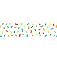 seamless horizontal border doodle confetti vector image vector image