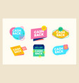 set cashback icons money refund cash back vector image