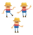 set of funny cartoon farmer vector image vector image