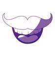 smile mustache cartoon vector image vector image
