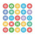 Snowflakes Colored Icons 3 vector image vector image