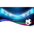 soccer field with stadium 004 vector image vector image