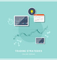 stock trading strategies vector image vector image