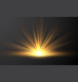 sunrise sunlight special lens flash light effect vector image vector image