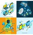 Telecom Isometric 2x2 Design Concept vector image vector image