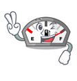 two finger gasoline indicator isolated with in vector image