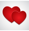 Two red paper hearts vector image vector image