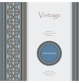 Vintage background with seamless borders vector image