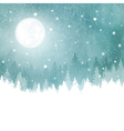Winter background with fir trees vector image vector image