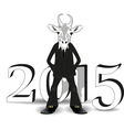 year white goat vector image vector image